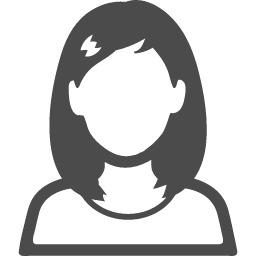 ロングヘアーの女の人の無料アイコン素材 2